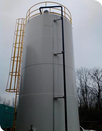 aboveground tank system pine run construction