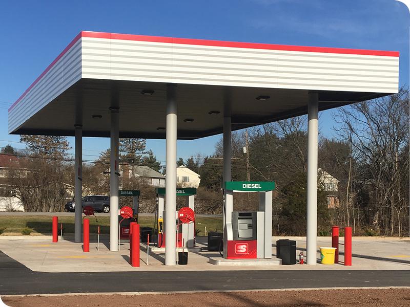 Gas Station Installation | Pine Run Construction