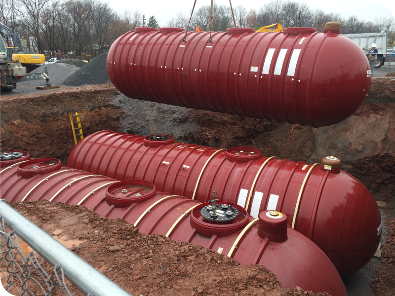 underground storage tank system pine run construction